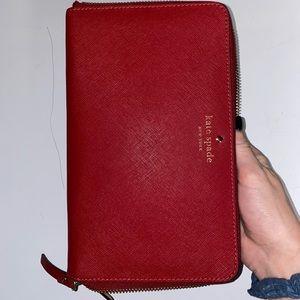 Red Kate spade wallet/organizer